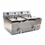 Double Fryer  2x16L with tap 400V
