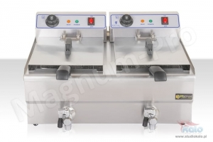 Double fryer 2x10 l with tap