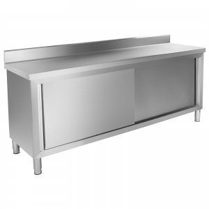 Gastronomic working table 200x60 cm with cabinet