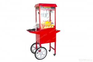 Popcorn maker with trolley , kettle