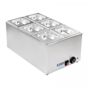 Bain marie 1/3 three container, lid  (1)