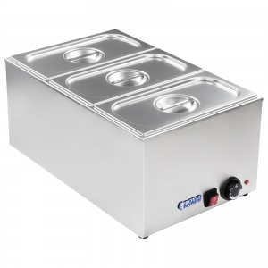 Bain marie 1/3 three container, lid