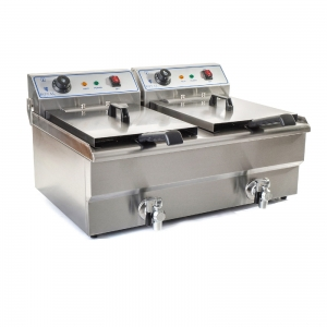 Fryer with a tap 2x16L