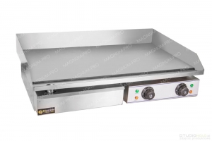Smooth grill plate 75cm 2x2.2 kW