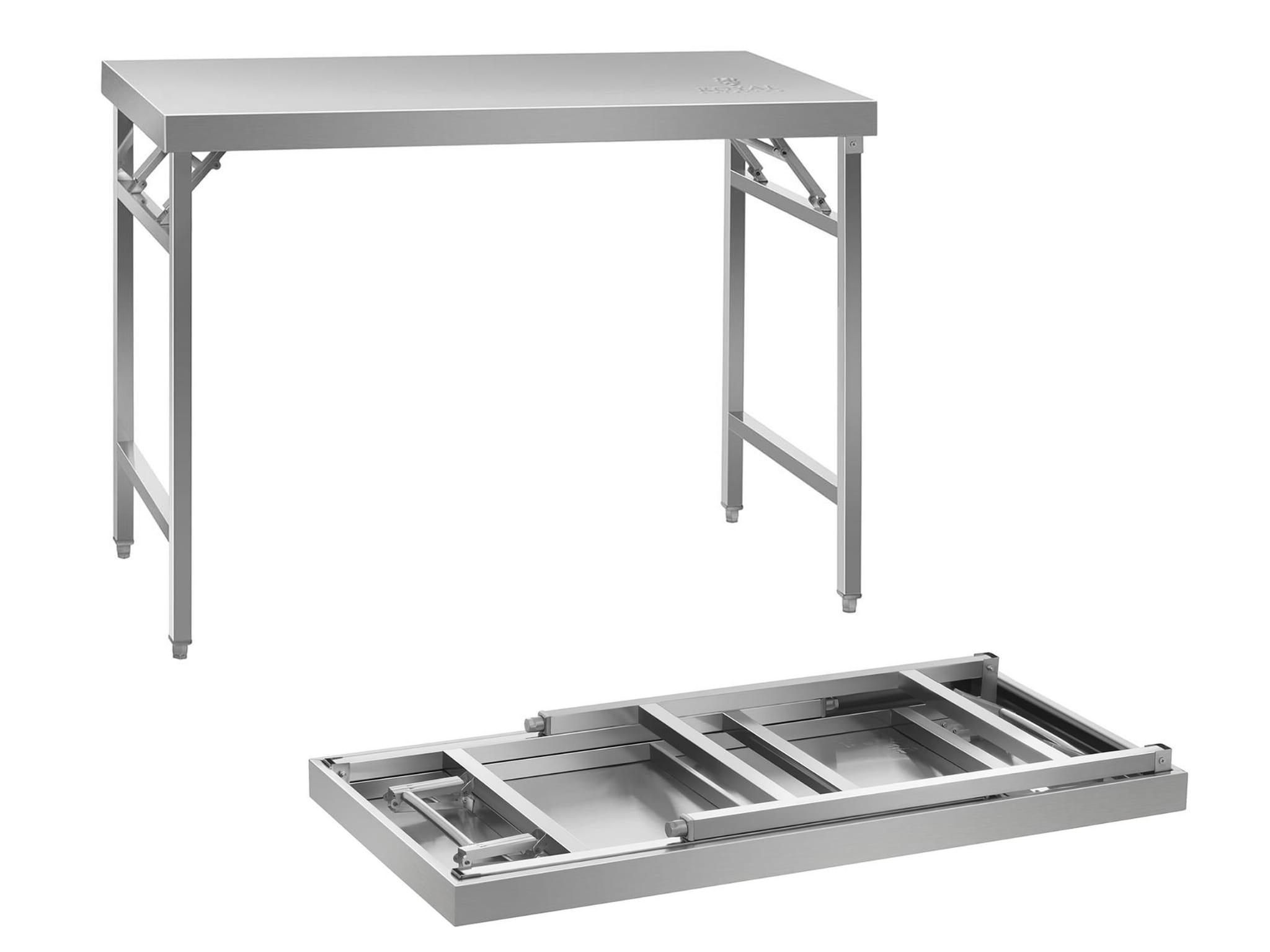 Tylko na zewnątrz Rozkładany stół roboczy ze stali nierdzewnej 120x60cm , Stoły QQ15