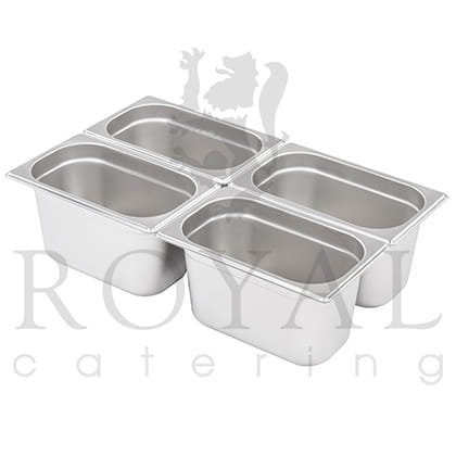 Bain marie 1 4 four container lid magnum pro for Cuisson four bain marie
